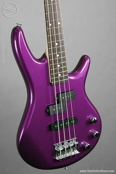 Ibanez Mikro Bass Guitar. I have the same one except black. :D x3 I like this color a lot though.