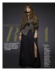 visual optimism; fashion editorials, shows, campaigns & more!: sortez du rang: marlena szoka by bruna kazinoti for grazia france 17th october 2014