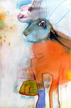 Rebecca Haines – Pippin Contemporary, Santa Fe, New Mexico - Art Contemporary Art Artists, Modern Contemporary, Illustrations, Illustration Art, Mexico Art, Abstract Animals, Abstract Art, Rabbit Art, Bunny Art