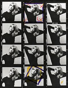 Catherine Deneuve contact sheet, 1965 (photos by David Bailey) Catherine Deneuve, Film Photography, White Photography, David Bailey Photography, Romain Gary, Contact Sheet, Rocker Girl, Richard Avedon, Photoshop