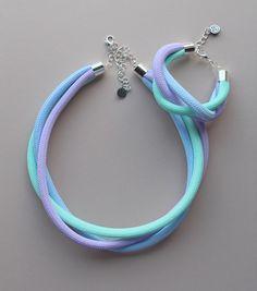 Krisztina Lango rope jewelry Rope jewelry Pastel jewelry #handmade #lango #ropejewelry #pasteljewelry #pastelnecklace