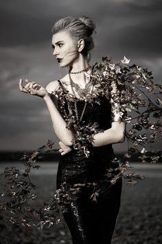 """Black Knight I"" — Photographer/Designer: Ares Duval – ARES Photographie Makeup/Model: Nina Lxr"