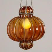 Orange Glass Venetian Pendant from Cost Plus World Market