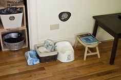 potty station in bathroom/bedroom by sew liberated, via Flickr