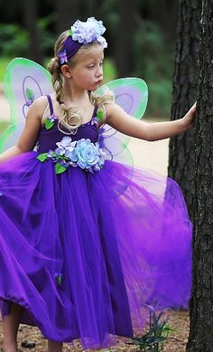 Fairy Costumes- the tulle and the huge flower!