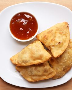Coronation Chicken Samosas