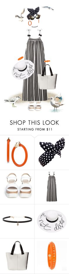 """""""Walk to the beach"""" by frenchfriesblackmg ❤ liked on Polyvore featuring Trina Turk, Lulu in the Sky, Pedder Red, Madewell, Carbon & Hyde, French Connection, Mark Davis and Versace"""