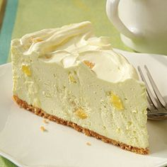 Pineapple Cheesecake with Vanilla Wafer Crust