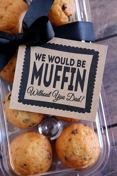 Make some muffins and seal with a sweet message just for Dad. #FathersDay #partyfood #dadsday