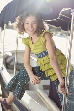 Good Hart, Spring 2013: Green Apple Lizzy Top, Great Lakes Big Ruffles - Matilda Jane Girls Clothing