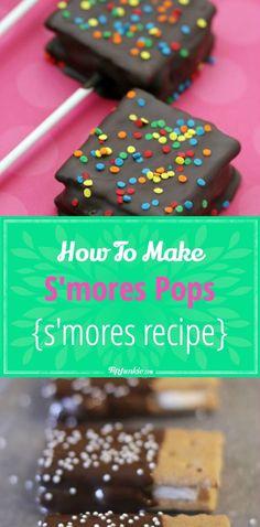 How To Make S'mores Pops {smores recipe} via @tipjunkie