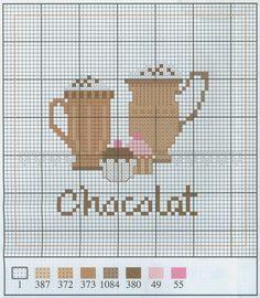 Chocolate free cross stitch pattern from www.coatscrafts.pl