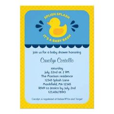 Shop Rubber Ducky Baby Shower Invitation Created By Marlenedesigner.