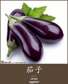 茄子 - qiézi - cà tím - eggplant