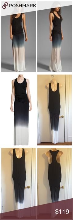 "Young Fabulous & Broke Hamptons Ombre Maxi Dress ▪Gorgeous dress by Young Fabulous & Broke ▪️It's the Hamptons black ombre maxi dress ▪️Racerback style with a scoop neckline ▪️Ruched side seams ▪️Raw cut hem ▪️Slight front drape accent ▪️Unlined ▪️Shoulder seam to hem measures apprx 65"" in length ▪️Made out of rayon & spandex ▪️Item is brand new with tags ▪️Size Med ❌Trades Reasonable offers only! Item is sold out most everywhere in this color. Young Fabulous & Broke Dresses Maxi"