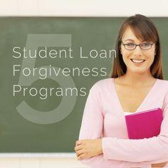 5 student loan forgiveness programs Pay off Debt, Student Loan Debt #debt