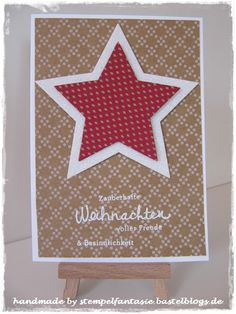 Weihnachtskarte Christmas Unterm Christbaum Sterne Wünsche zum Fest