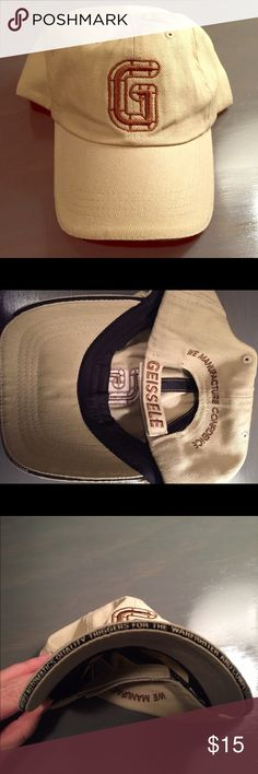 Geissele hat Tan baseball hat with brown stitching from Geissele firearms. New without tags. From a smoke-free home. Geissele Accessories Hats