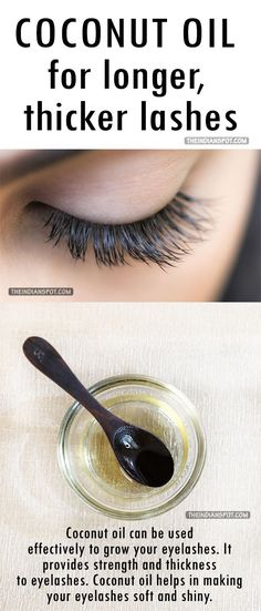 """Grow your eyelashes with """"Coconut Oil"""""""