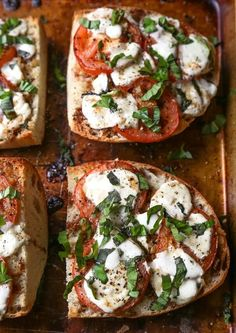 This: Tomato, basil, mozzarella, etc. I put this on ciabetta, and it's always a hit.  This looks yum!!