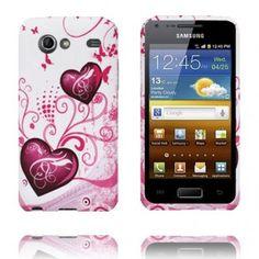 Symphony (Två Lila Hjärtan) Silikonskal till Samsung Galaxy S Advance