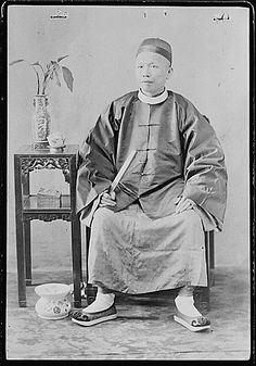 Photograph of a merchant from Chinese Business Partnership Case File for Quong Lee Company., 1896 by The U.S. National Archives, via Flickr