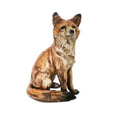 Alpine Sitting Fox Statue | Wayfair