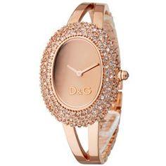 Rose Gold D&G watch. So pretty!