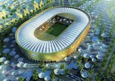 though the Qatar World Cup 2022 is still not confirmed, several Qatar World Cup stadiums have already been proposed. The features of these stadiums are here Soccer Stadium, Football Stadiums, World Cup 2022, Fifa World Cup, Doha, Qatar World Cup Stadiums, Qatar Stadium, Eco City, National Football Teams