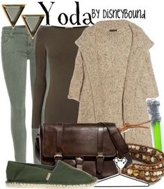 Yoda Disneybound-I'm going to pull something like this together soon