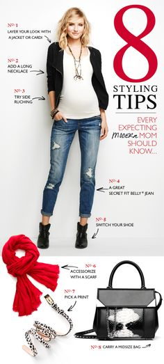 8 maternity styling tips to freshen up your style. #maternity #fashion #tips