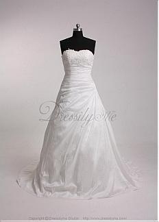 Elegant Taffeta Sweetheart Wedding Dress #Dressilyme