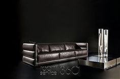 Wafer Designer Leather Sofa by Gamma