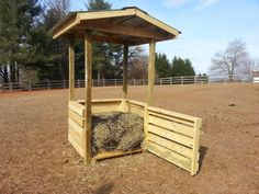 Hay Feeders – Far From the Usual - Equitation Horse Hay, Horse Paddock, Horse Stables, Horse Barns, Cow Feeder, Horse Feeder, Hay Hut, Round Bale Feeder, Hay Feeder For Horses