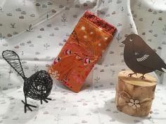 Etui à lunettes Mirette orange végétal cousu par Valérie - Patron Sacôtin