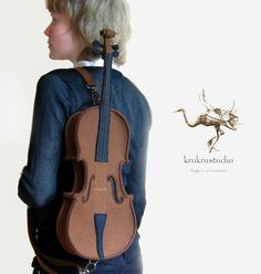 Violin Bag From Brown Felt. This looks awesome.