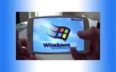 Windows 95 running on iPhone 6 Plus DEMO