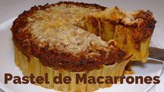 Pastel de Macarrones / RECETA CASERA / Rica y Fácil   Josean MG   Muffin, Breakfast, Food, Pasta Pie, Pastel Macaroons, Homemade, Pies, Morning Coffee, Eten