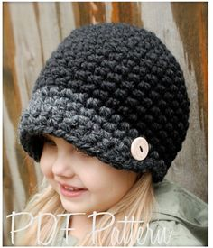 Crochet PATTERN-The Easton Cap (dimensioni del bambino, bambino e adulto)