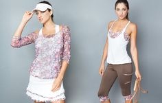Denise Cronwall Activewear Golden Blossom Collection, #activewear, #tennis, #fitness, #workout, #apparel, #style, #fashion, #unique, #boutique, #training, #pants, #bra, #top, #designer