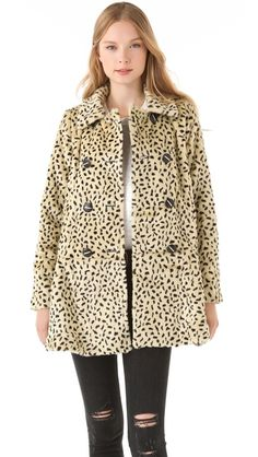 Free People Faux Fur Cheetah Coat - proceeds to the Red Cross - have I found my winter coat...?