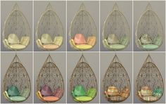 "simsrocuted: "" Okay, I've got some recolors here of the Wonderfully Woven Hanging Chair converted from by mrsimplelukkas. and I thought you guys could test it for me. It should be standalone but. Sims Four, Sims 3, Mods Sims, Sims 4 Game Mods, Sims 4 Cc Furniture Living Rooms, Nursery Furniture, Furniture Stores, Maxis, Muebles Sims 4 Cc"