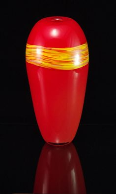 Pyxis Sandstone in Lava and Sunshine by CHglassworks on Etsy, $395.00