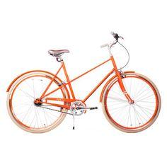 {orange Public bike} an orange retro-style bike? that's the ultimate!