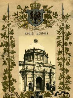 """Berliner Schloss """"Mit Gott fuer Koenig und Vaterland"""" berlin ca.1910"""