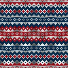 Christmas Seamless Knitted Pattern In Fair Isle Style Stock Vector - Image: 44331918 Fair Isle Knitting Patterns, Knitting Machine Patterns, Knitting Charts, Knitting Stitches, Knit Patterns, Free Knitting, Stitch Patterns, Sock Knitting, Vintage Knitting