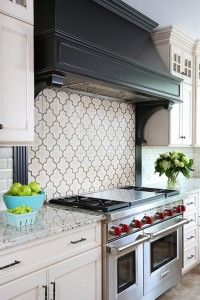 Arabesque Is A Por Tile Shape For Kitchen Backsplash Tin Ceiling