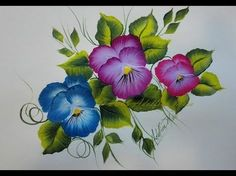 PENSAMIENTOS - PANSIES, PINTURA MULTICARGA, PINTURA DECORATIVA - YouTube