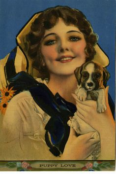 Rolf Armstrong : Puppy Love