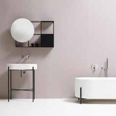 Bathroom decorating - as simple and neat as it can ever be.